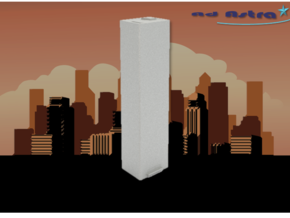 Seven World Trade Center - New York (1:4000) in White Natural Versatile Plastic