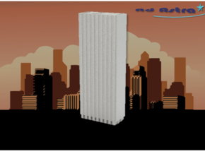 One Chase Manhattan Plaza - New York (1:4000) in White Natural Versatile Plastic