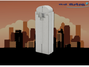 Chase Tower - Dallas (1:4000) in White Natural Versatile Plastic