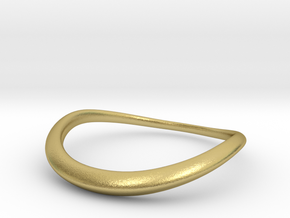 Wave Ring in Natural Brass