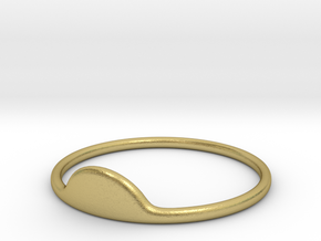 Half-Moon Ring in Natural Brass