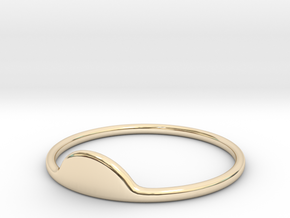 Half-Moon Ring in 14K Yellow Gold