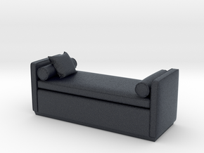 Miniature Ottoman Escher -The Sofa & Chair Company in Black Professional Plastic: 1:24