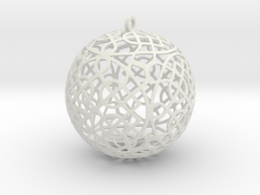 Celtic Knot  Ornament (4) in White Natural Versatile Plastic