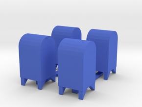 Mailbox USPS Traditional in Blue Processed Versatile Plastic: 1:48 - O