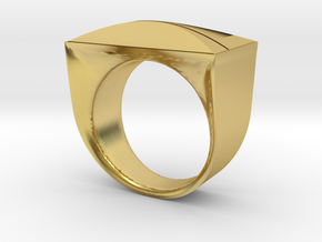 Above and Below Ring in Polished Brass