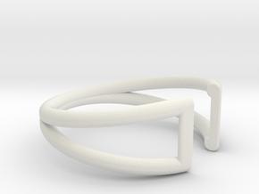 Sliver Ring in White Natural Versatile Plastic: 5.25 / 49.625