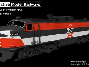 NEP502 N scale EP-5 loco - as built + guides in Smooth Fine Detail Plastic