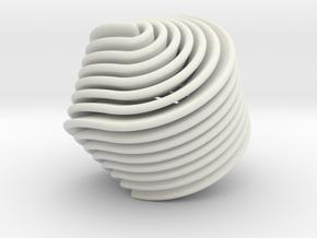 Hexasphericon Retro in White Natural Versatile Plastic