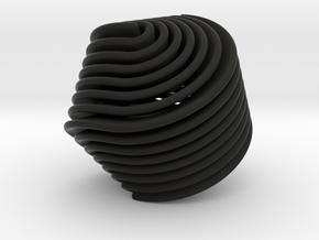 Hexasphericon Retro in Black Premium Versatile Plastic