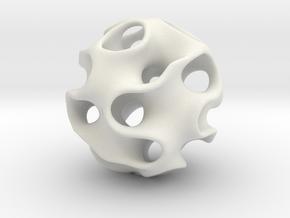 GYRON Sphere - 10cm in White Natural Versatile Plastic