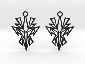 Dark symmetry earrings in Black Natural Versatile Plastic: Small