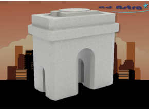Arc de Triomphe - Paris (1:4000) in White Natural Versatile Plastic