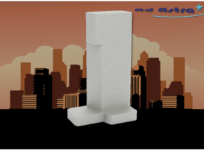 Scandic Victoria Tower - Stockholm (1:4000) in White Natural Versatile Plastic