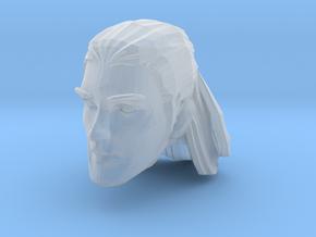 head 4 medium long hair in Smooth Fine Detail Plastic
