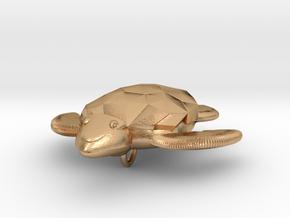 Turtle Pendant in Natural Bronze