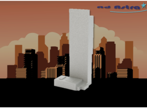Beetham Tower - Manchaster (1:4000) in White Natural Versatile Plastic