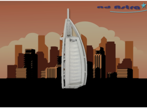 Burj Al Arab - Dubai (1:4000) in White Natural Versatile Plastic
