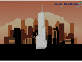 Trump Tower - Chicago (1:4000) in White Natural Versatile Plastic