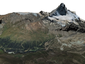 "Matterhorn / Monte Cervino Map: 8.5""x11"" (21x27 cm in Full Color Sandstone"