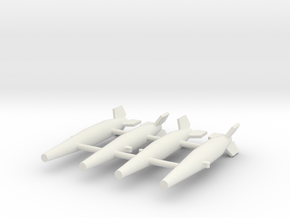 (1:144) BT1400 (Bomb/Torpedo) in White Natural Versatile Plastic