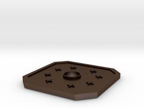 D&D Copper Piece in Polished Bronze Steel