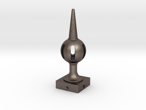 Signal Semaphore Finial (Pierced Ball) 1:19 scale in Polished Bronzed-Silver Steel