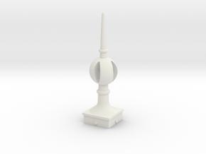 Signal Semaphore Finial (Open Ball) 1:19 scale in White Natural Versatile Plastic