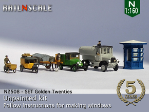 SET Golden Twenties (N 1:160) in Smooth Fine Detail Plastic
