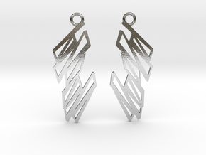 Zigzag earrings in Polished Silver: Small