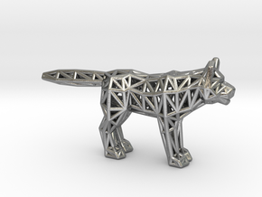 Gray Wolf (adult) in Natural Silver