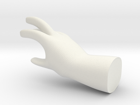 Master Hand Figure in White Natural Versatile Plastic
