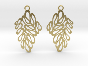 Wave earrings in Natural Brass: Extra Small