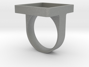 Square Signet Ring - Ring Band in Gray Professional Plastic: 11 / 64