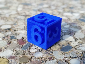 D6 - Plunged Sides in Blue Processed Versatile Plastic