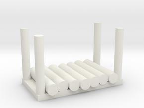 Holzstapel 7er Versatile Platsic (WSF) - 1:120 in White Natural Versatile Plastic