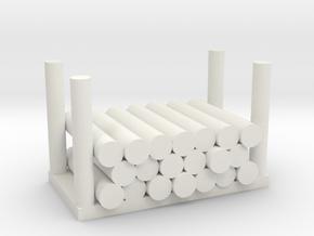 Holzstapel 20er Versatile Platsic (WSF) - 1:120 in White Natural Versatile Plastic