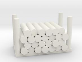 Holzstapel 26er Versatile Platsic (WSF) - 1:120 in White Natural Versatile Plastic