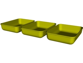 1/18 scale maintenance oil trays x 3 in Smooth Fine Detail Plastic