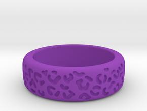 Leopard spot ring multiple sizes in Purple Processed Versatile Plastic: 5 / 49