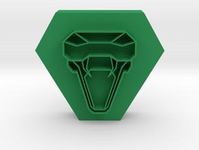 snake head pendant 1 in Green Processed Versatile Plastic