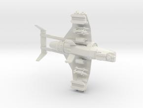 15mm Buzzard Gunship (Rocket Pods, Hunker-Killer M in White Natural Versatile Plastic