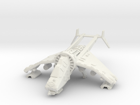15mm Buzzard Gunship (4x Rocket Pod) in White Natural Versatile Plastic