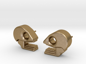 Mictlan earrings in Polished Gold Steel