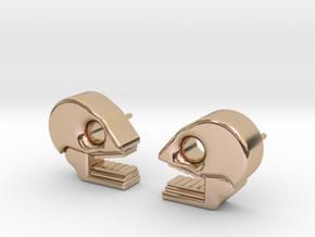 Mictlan earrings in 14k Rose Gold Plated Brass