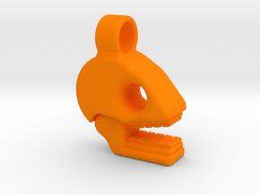 Mictlan pendant in Orange Processed Versatile Plastic: Small