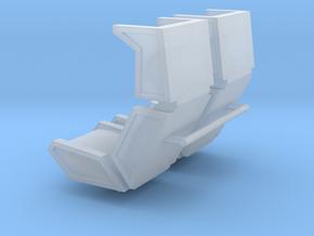 1/24 cyberpunk car seats (pair) in Smooth Fine Detail Plastic