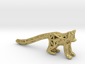 Ring Tailed Lemur in Natural Brass