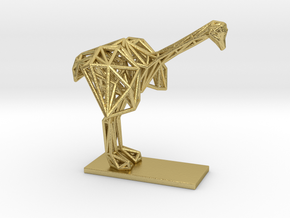 Ostrich (Young) in Natural Brass