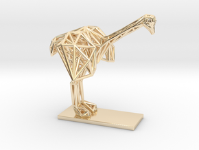 Ostrich (Young) in 14K Yellow Gold
